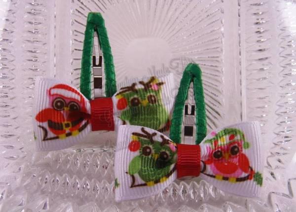 Santa Owls Snap Clippies 40mm