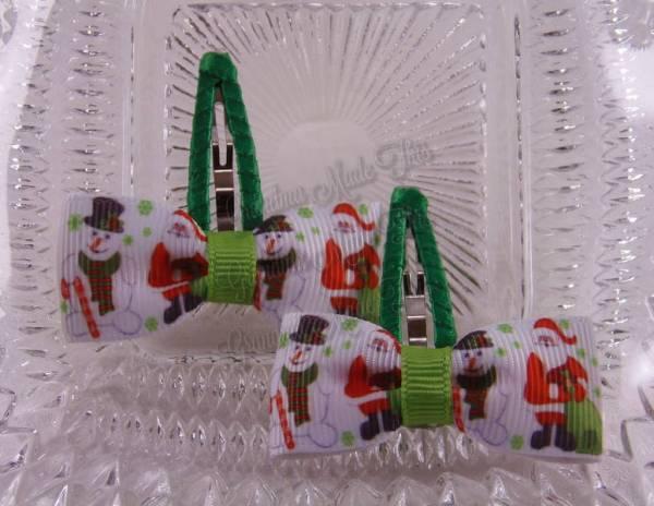 Santa n Snowman Snap Clippies 40mm