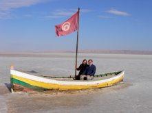 ship on a dry sea
