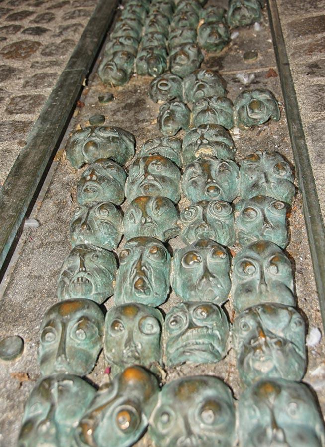 bronze faces