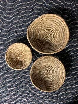 "Small Baskets (8.5"" diameter), $10.00 / (7"" diameter), $8.00 / (5.5"" diameter), $6.00"