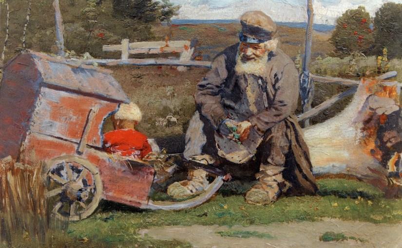 Старый да малый, М.В.Нестеров, 1887 / art-catalog.ru