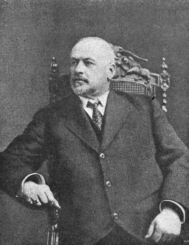 Председатель Временного Комитета М. В. Родзянко, председатель Г. Думы. Член Г. Думы от Екатеринославской губернии