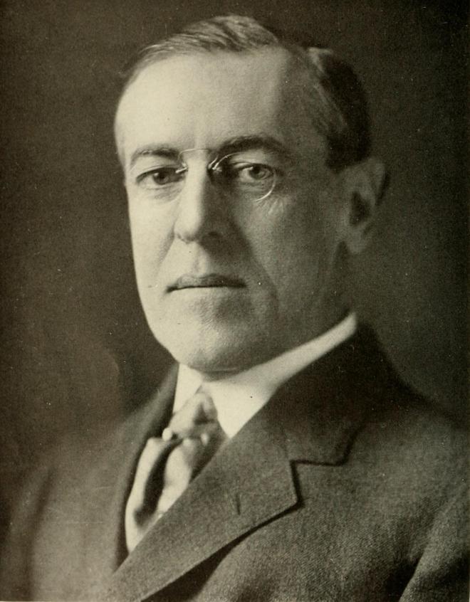 28-й президент США Вудро Вильсон (1856-1921)