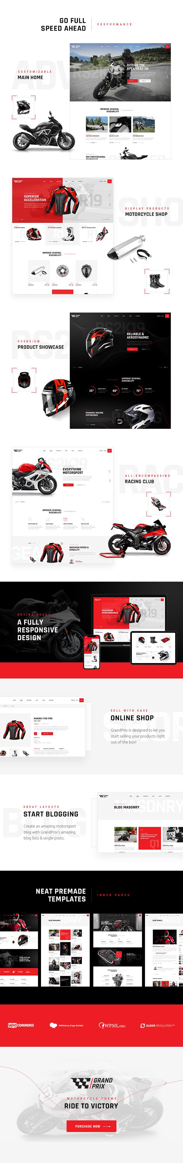 GrandPrix - Motorcycle WordPress Theme - 1