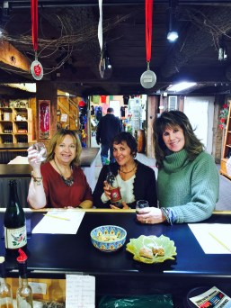 Karen, Kare and Robbie wine tasting