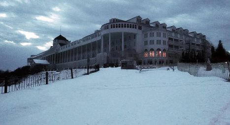 Grand Hotel in winter