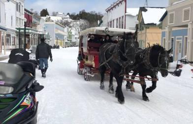 getting around via winter taxi