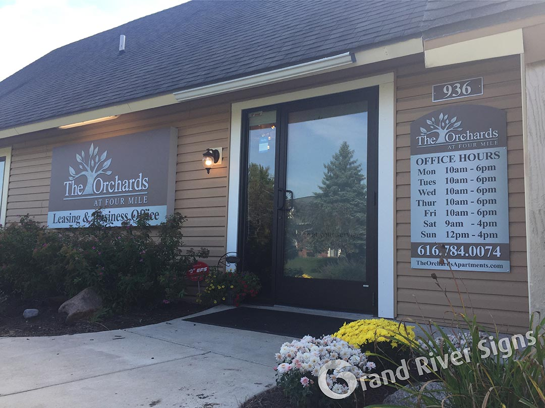 Apartment Buildings and Apartment Complex Signs | Grand River Signs ...
