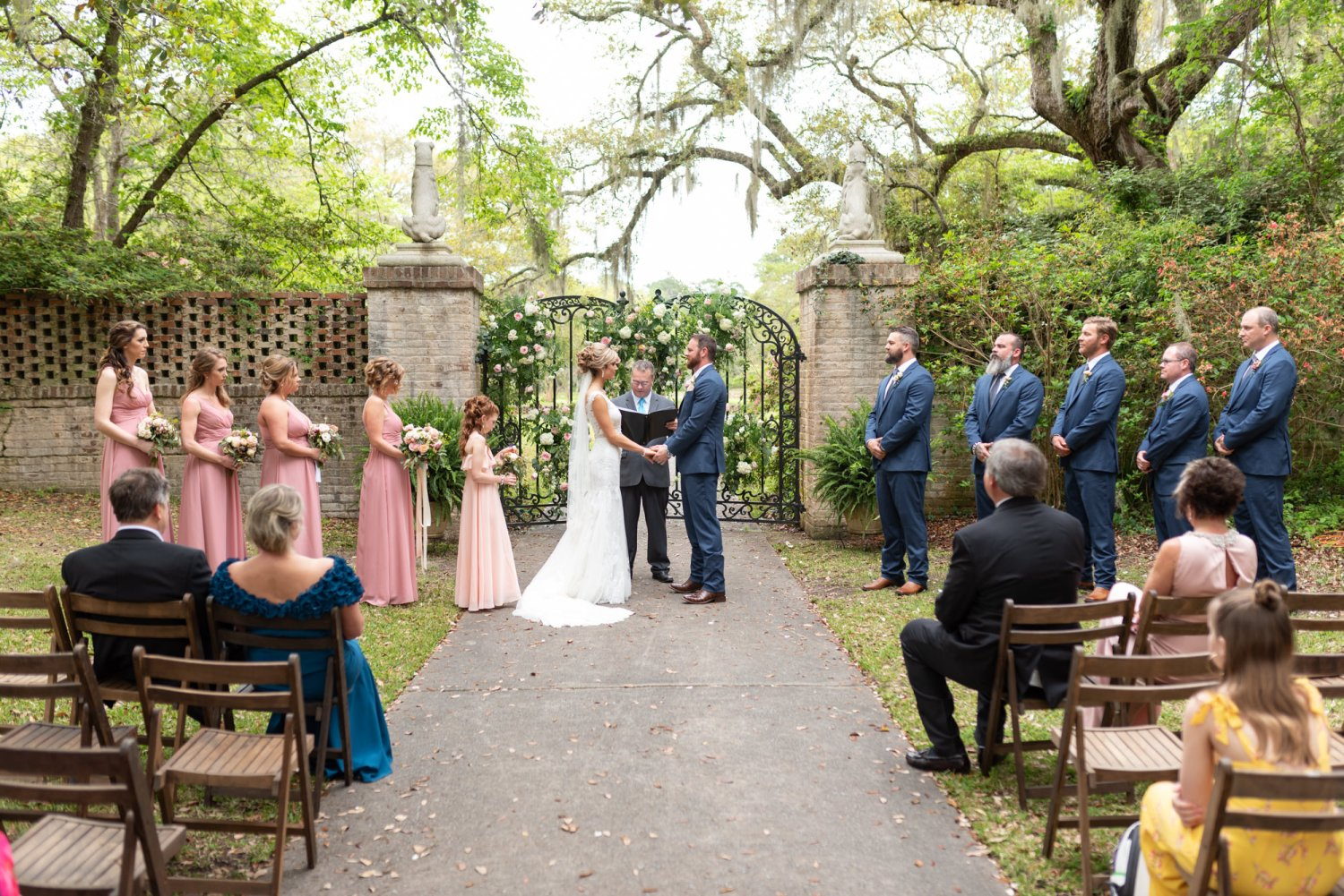 Beautiful ceremony location near the gates - Brookgreen Gardens