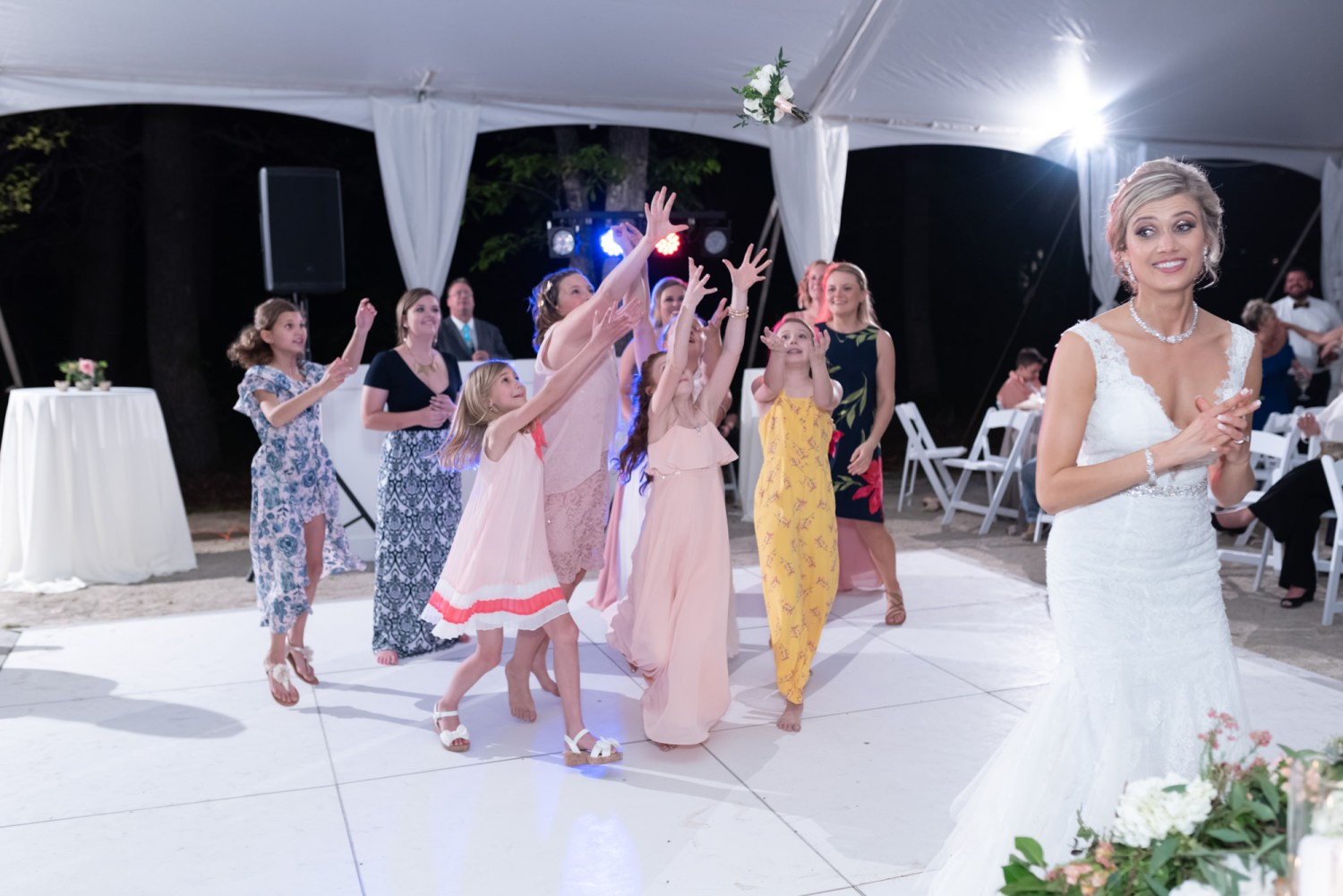 Bouquet Toss - Brookgreen Gardens