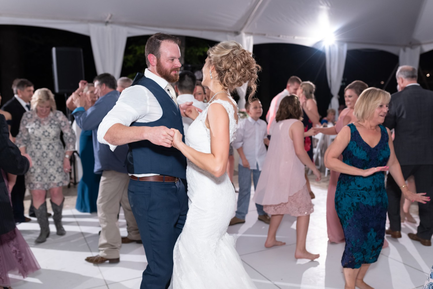 Bride and groom dancing - Brookgreen Gardens
