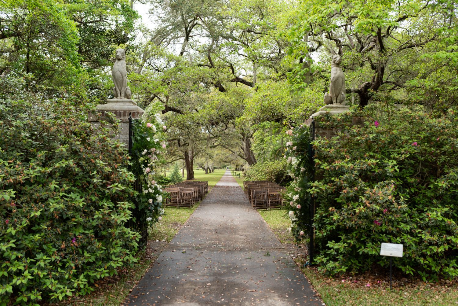 Ceremony location by the gates - Brookgreen Gardens