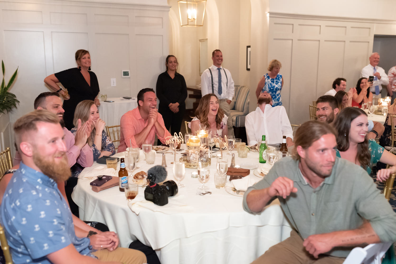 Laughing during toasts - Grande Dunes Ocean Club - Myrtle Beach