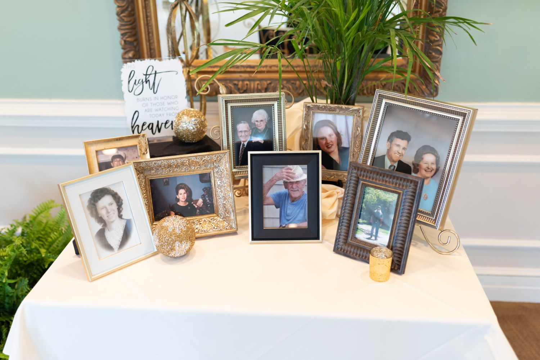 Memories table - Pawleys Plantation