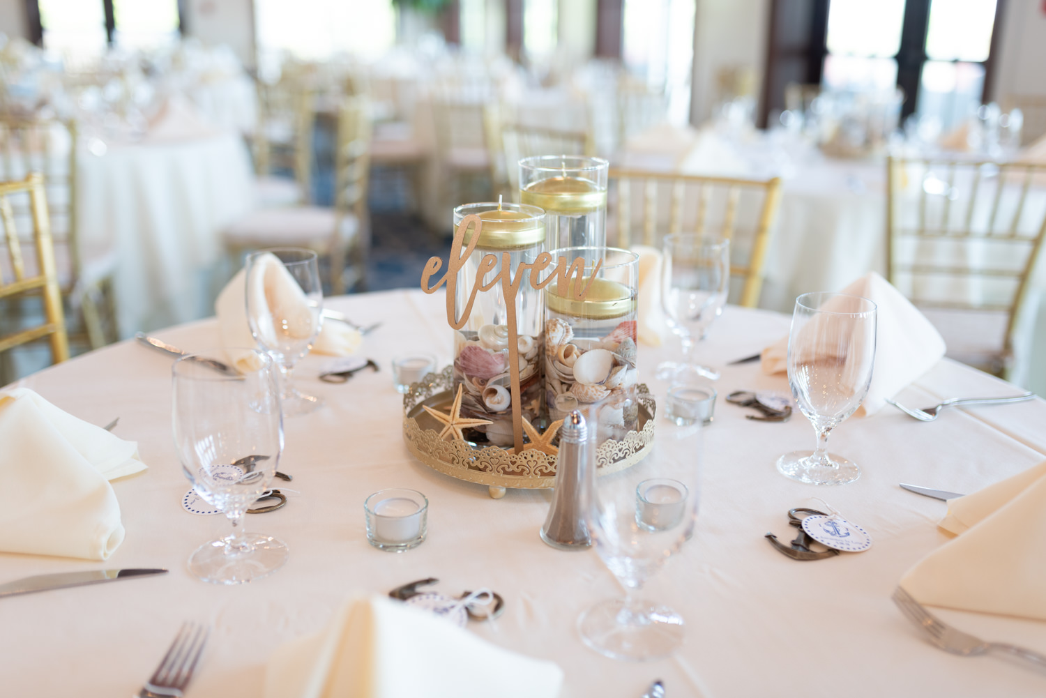 Table centerpieces - Grande Dunes Ocean Club - Myrtle Beach