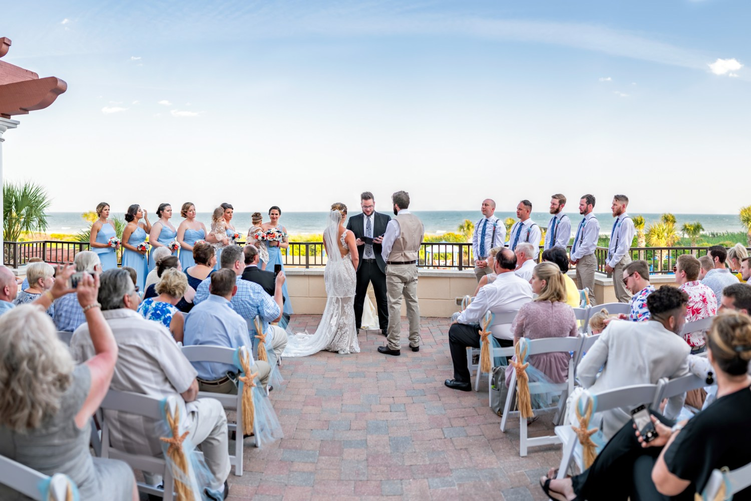 Wedding on the balcony HDR panorama - Grande Dunes Ocean Club - Myrtle Beach