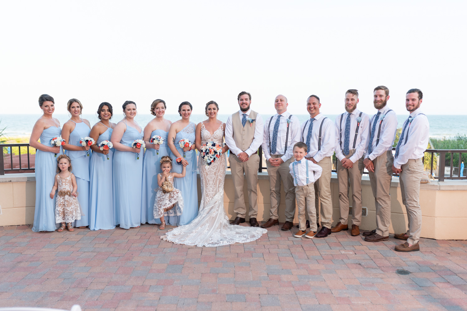 Wedding party on the balcony - Grande Dunes Ocean Club - Myrtle Beach