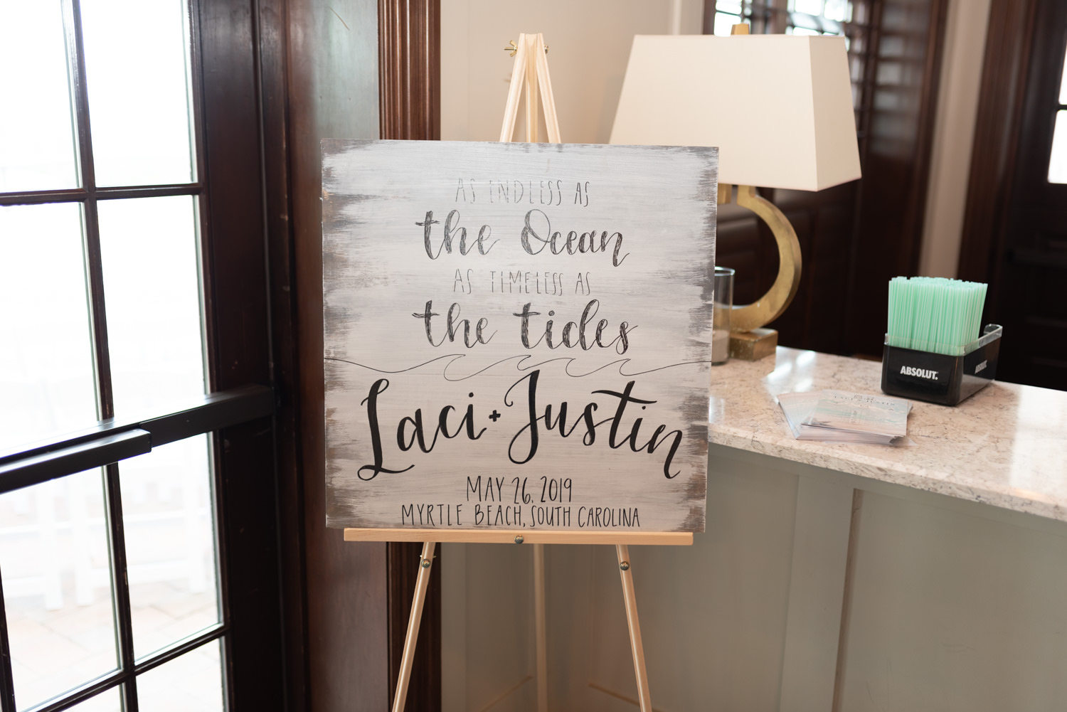 Wedding sign - Grande Dunes Ocean Club - Myrtle Beach