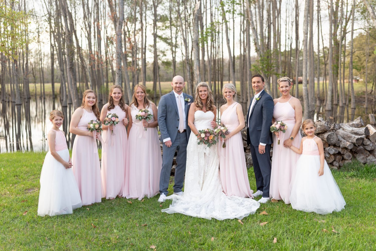 Bridesmaids with just one groomsman  - Wildhorse at Parker Farms