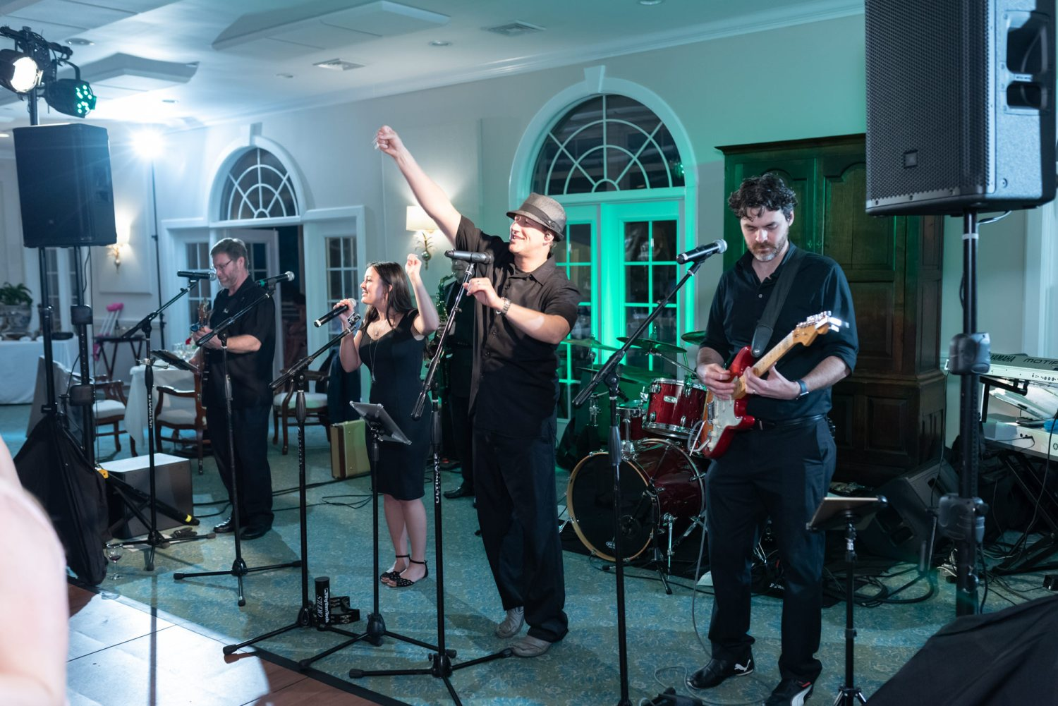 Great band playing reception - Wachesaw Plantation