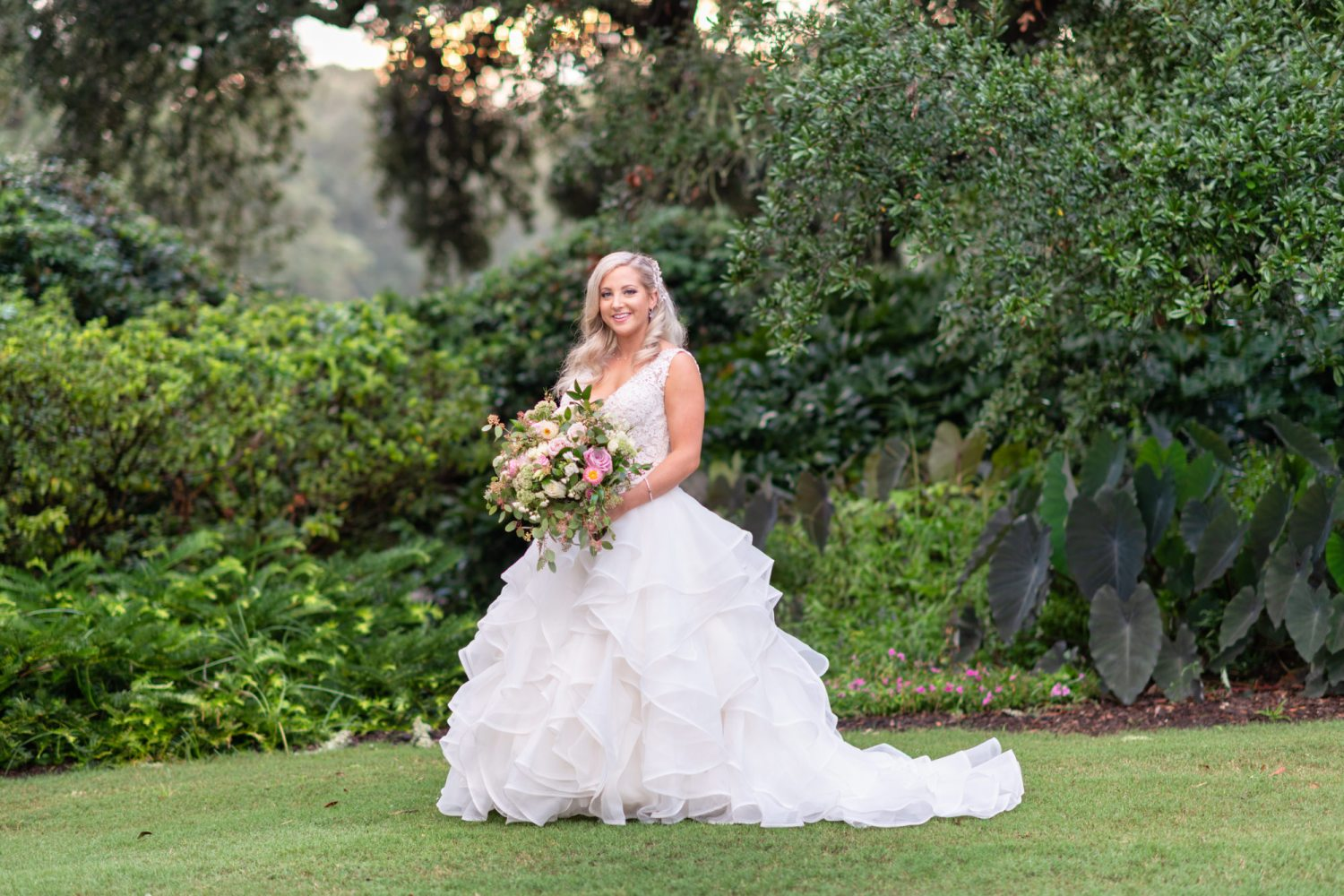 Bridal portrait on the lawn - Litchfield Country Club
