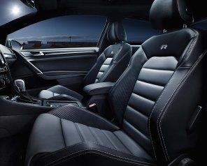 Interior of the Volkswagen Golf R MK7