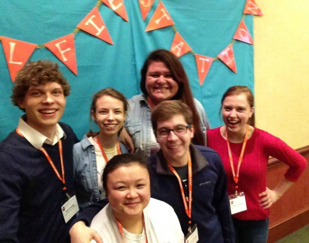 Student leaders from Grand Valley Alternative Breaks at the Great Lakes Alternative Breaks Conference.