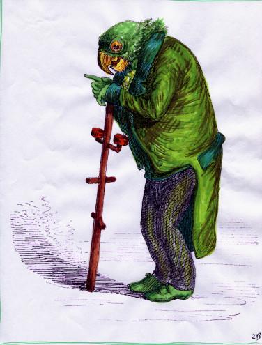 grandville-animals-grumpy-king-parrot