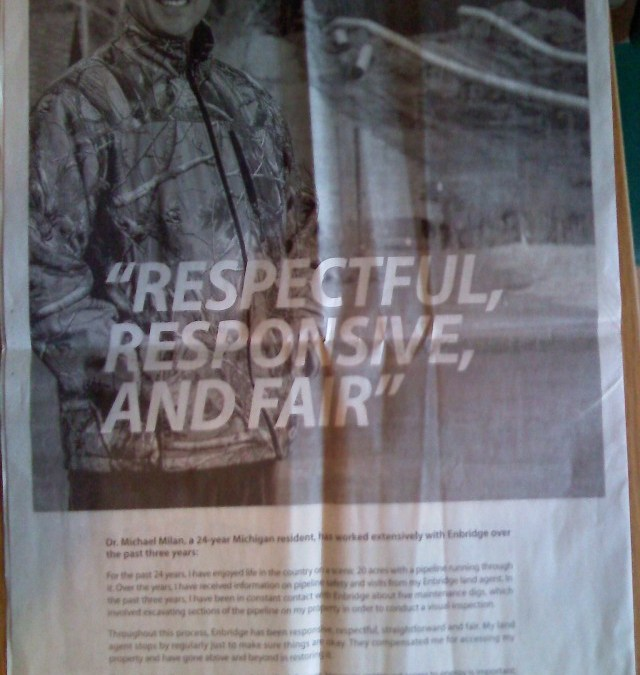 Enbridge's Freep ads, one last time