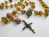 Rosario collana di Santa Chiara d'Assisi