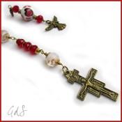 Collana rosario con croce di San Damiano