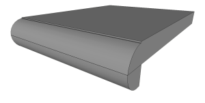 Rounded edge profile for kitchen countertops