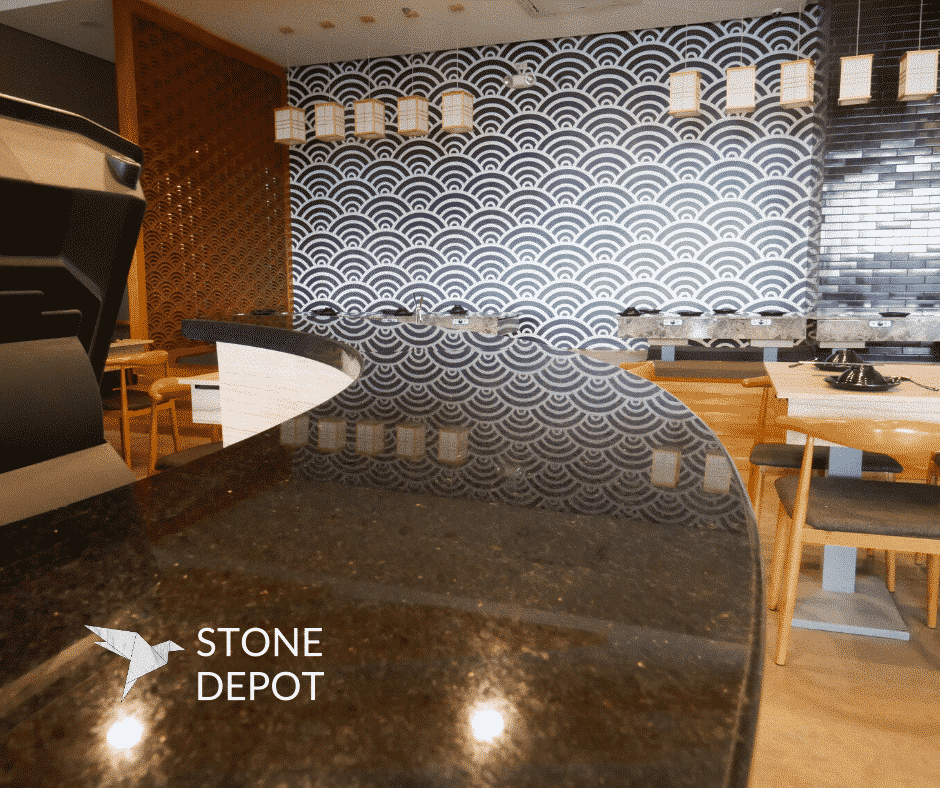 The bigger the format, the higher the granite slab price