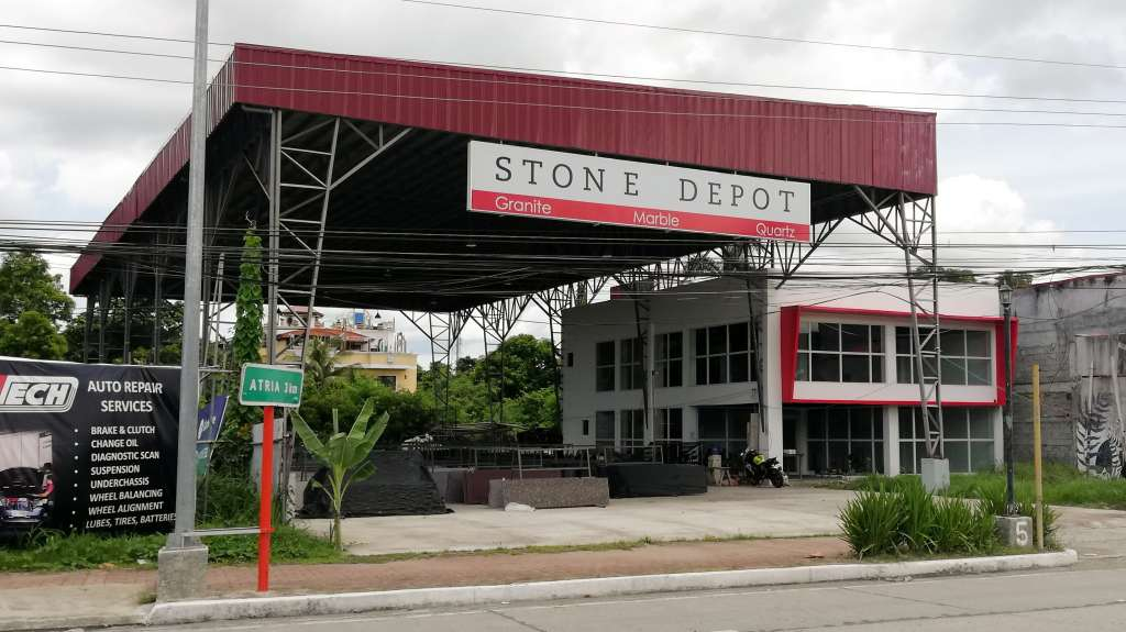 The slab yard of Stone Depot in Iloilo City