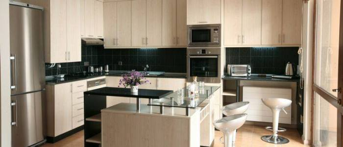 Modern Whitewashed Cabinets
