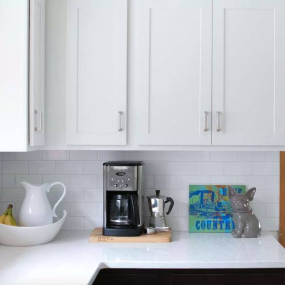 bright and beautiful Silestone Blanco Orion countertops