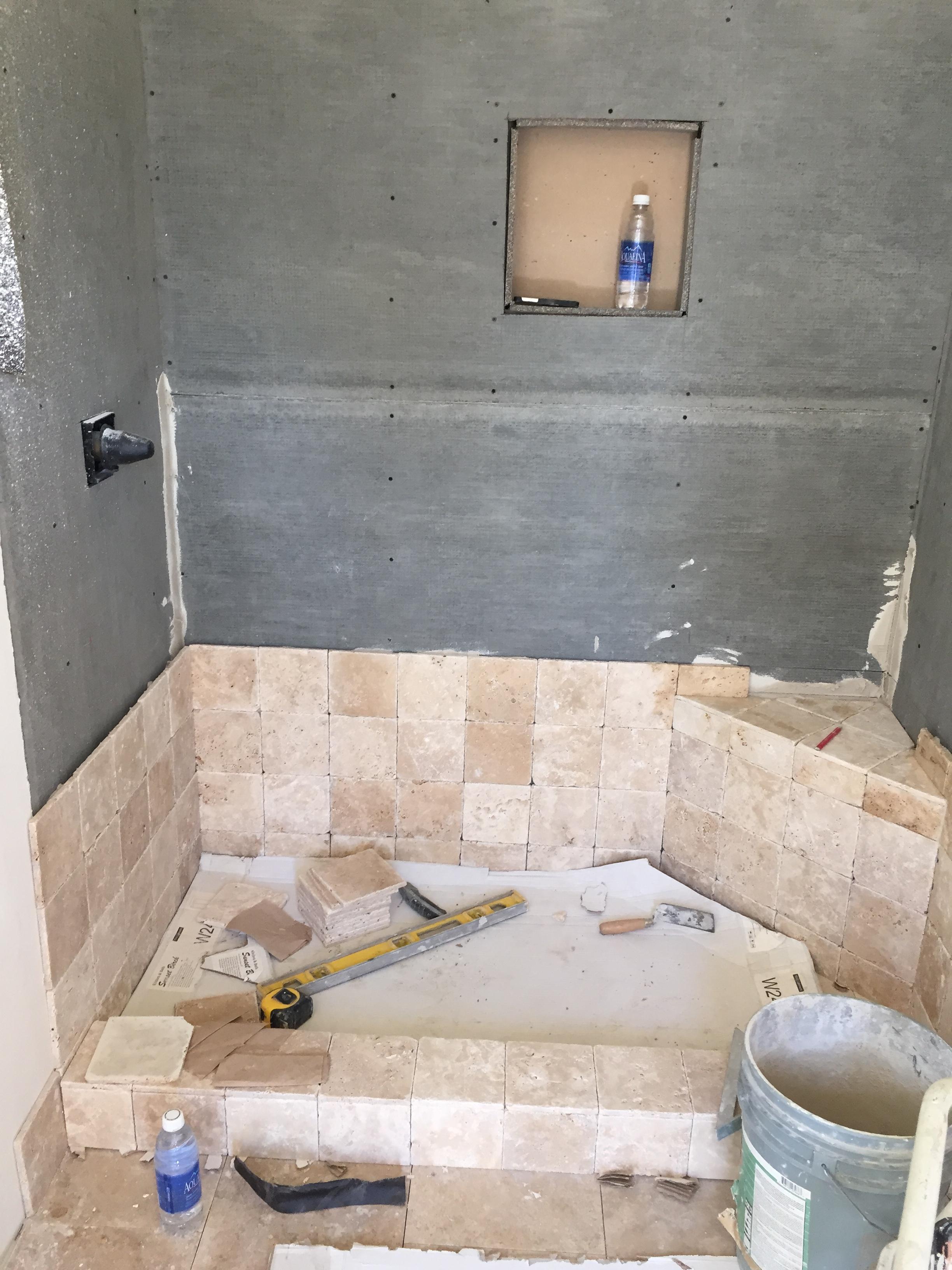 Travertine Bathroom Remodel Saugus