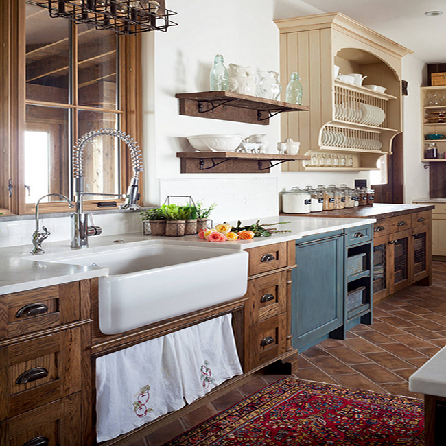 How To Achieve A Farmhouse Kitchen With Granite, Wood, And ... on Farmhouse Countertops  id=87297