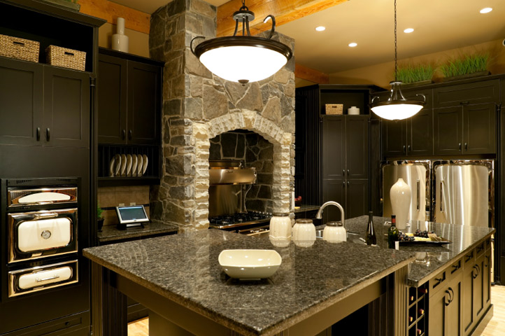 Granite Countertops Costs | Free Instant Estimates ... on Dark Granite Countertops With Dark Cabinets  id=31944