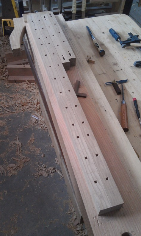 Japanese transom frame pieces
