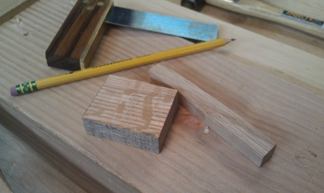 Wood for marking gauge