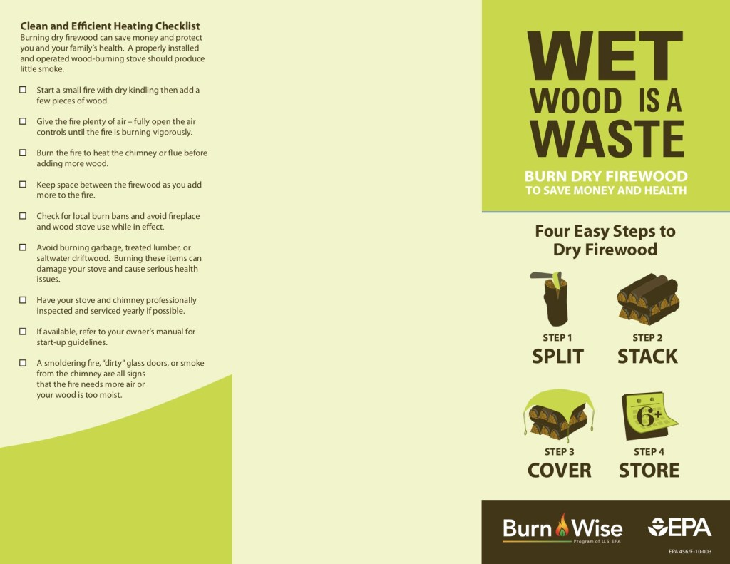 wet firewood is a waste - Steps to dry firewood - EPA