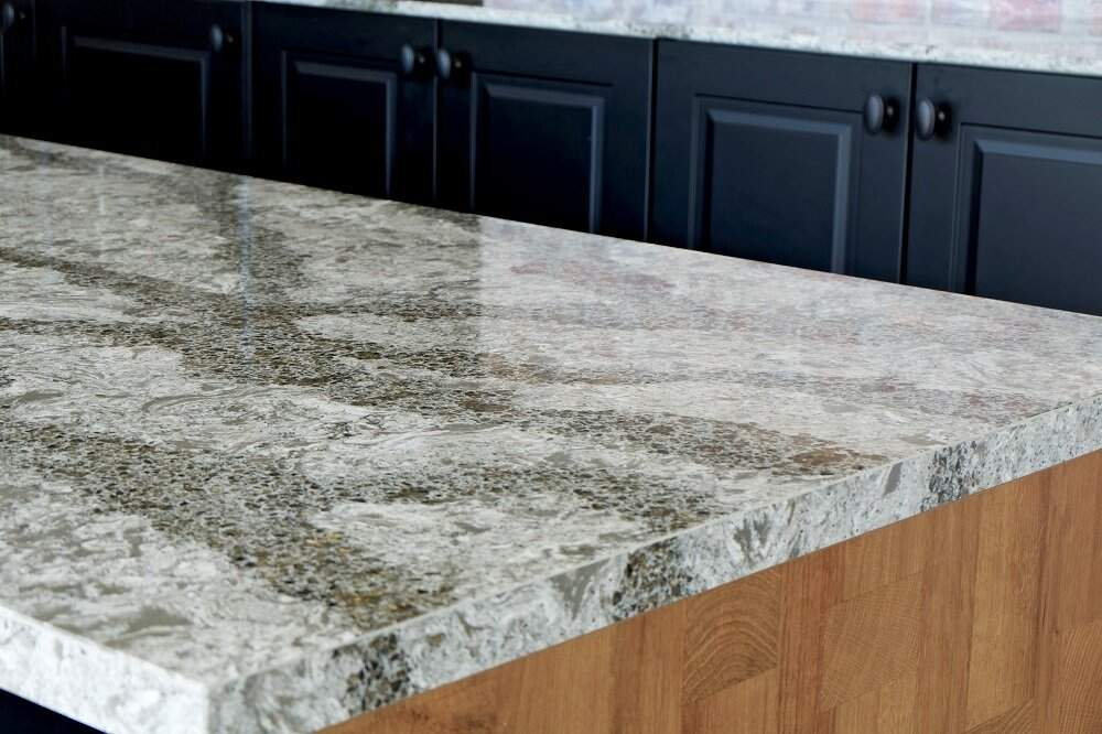 cover tile countertops with thin quartz
