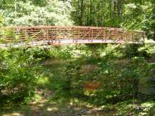 70-foot-long footbridge over Middle Branch, just off Gregg Mill Road.