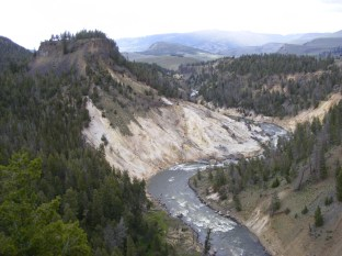 The Yellowstone River cuts a stunning canyon.
