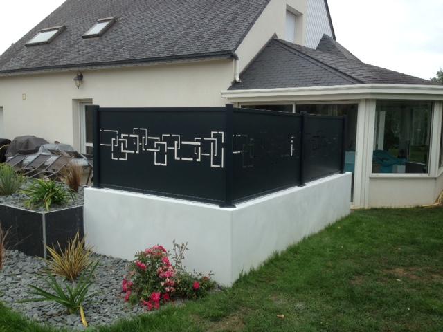 Aménagement d\'une terrasse en béton désactivé — Granit Paysagistes