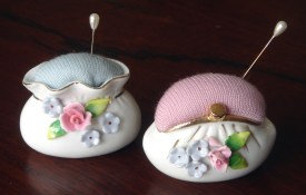 recycled kitsch pincushions
