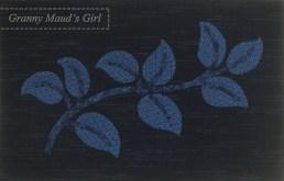 Leaf patchwork block with appliqué
