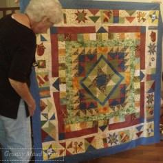 Patchwork medallion quilt
